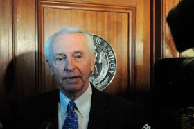 (Credit Rae Hodge/Kentucky Public Radio) Gov. Steve Beshear